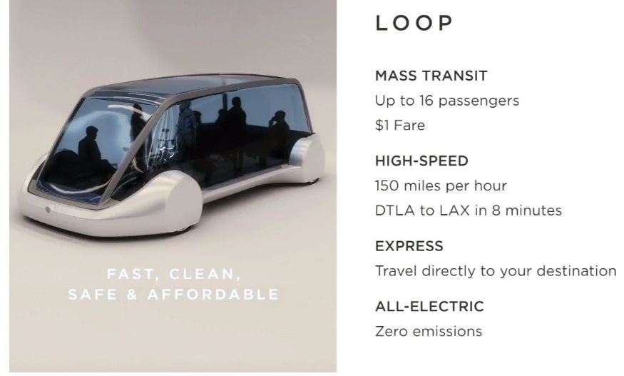 Илон Маск оценил поездку в«метро будущего» в1 доллар