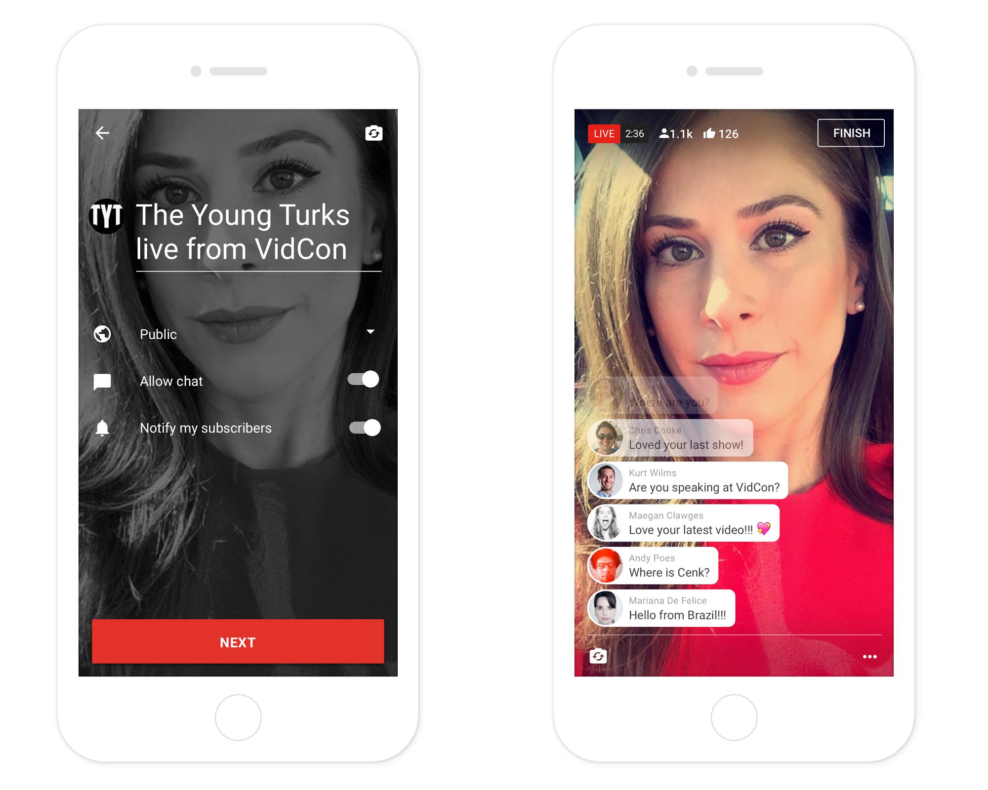 Мобильные трансляции YouTube заработали для наименее известных видеоблогеров